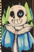 Sans from undertale drawing by xxmidnight12xx