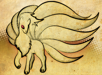 Ninetales - Pop + Old by HolySaintDragon