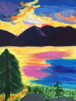 Sunrise painting by F00000d