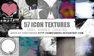 57 icon textures (gray shades) by KaMoonDNA
