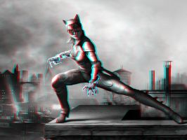 Catwoman 3-D conversion by MVRamsey