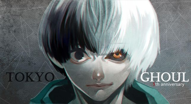 Tokyo Ghoul 5th Anniversary by CottonCandyStar