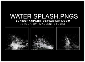 Water Splash PNGs by jungchanpark by justblackssi