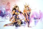 Leona, the Radiant Dawn - League of Legends by Abstractmusiq
