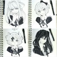 Doki Doki Literature Club Inktober by Mildemme