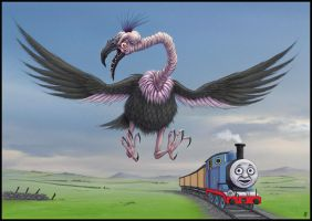 Thomas and the Giant Claw by jflaxman