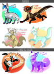 What an Unusual Cast - ADOPTS OPEN! [2/6] by LucidNaturae