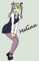 Melian Pose Purple Stockings by Magictron3000