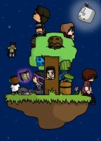 Minecraft: Hangin out at skyblock by Minccifancutie