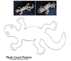 Plush Lizard Pattern by Viergacht