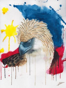 Philippine Eagle (watercolor) 2 by Abremson