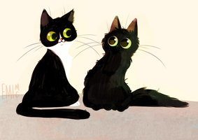 Black Floofs by EmiMG