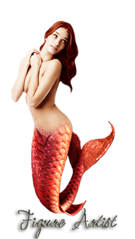 Red Mermaid by Patatabollente