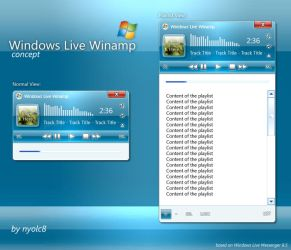 Windows Live Winamp CONCEPT by nyolc8