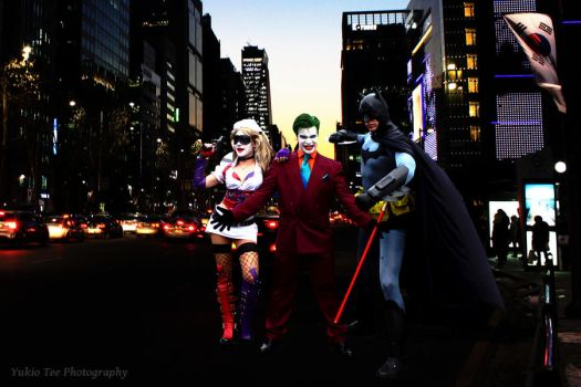 Batman, Joker, Harley Quinn by Asianchrist