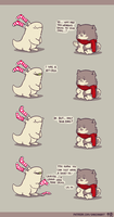 Rabbit and Crayon weekly comic - Cold by DaveRabbit