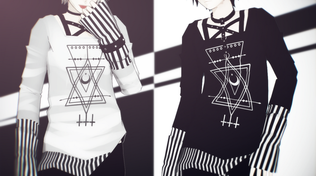 MMD Long Sleeved Shirt by Seo-MMD