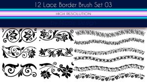 12 Lace Borders Brush Set 03 by noema-13