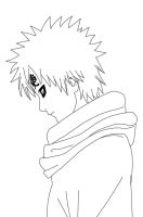 Gaara Sad Lineart by CrypticRiddlers