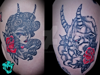 Beauty and Beast Tattoo by Studio-Gemblee