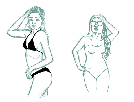 Body Study Sketches by Sweets9232