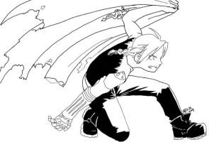 Edward Elric line art by x-Short-Hilt-x