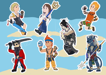 FFX Stickers by ashe-the-hedgehog