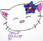 Anime Badge: Happy Kitty by SpellboundFox