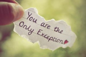 the only exception. by this-is-the-life2905