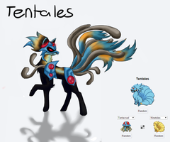Pokemon Fusion: Tentales by Storm-Sketch