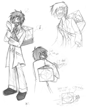 Rattmann and Cube Sketches by Inverted-Mind-Inc