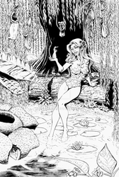 Poison Ivy Pinup - Inks by lyssaspex