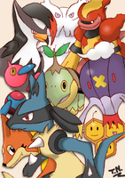 Pokemon DP Collage Colored