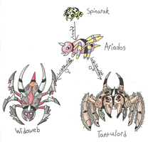 Fakemon - Spinarak Family by UltimateRidley