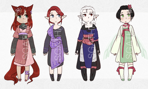 :CLOSED: PRICE LOWERED Fantasy Adopt Set 017 by SgathanAdopts