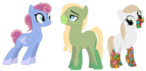 Pony Adoptables 1 Left by DoodleBug-Adoptable