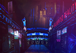 Cyberfunk Synthetic Inn - Animated. by hybridgothica