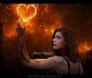 Fire heart by marcosnogueiracb