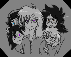 Surrounded by idiot boys by CoffeeAddictedDragon