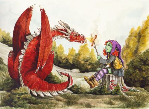 The Dragon baby sitter by OlayaValle