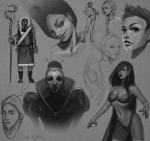 Sketches II by Amanda-Kihlstrom