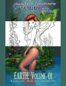 FANTAZIES VOLUME 1 COLORING BOOK: Earth by rantz