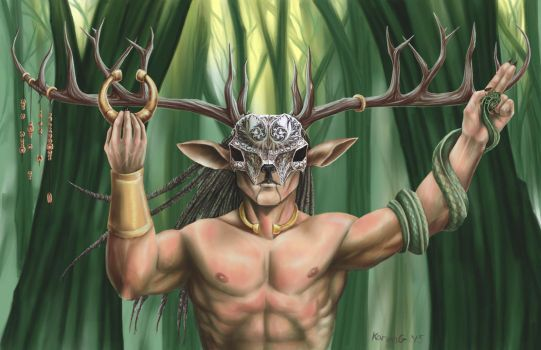 Cernunnos by GreenGosselin