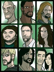 LOST Character Collage by grantgoboom