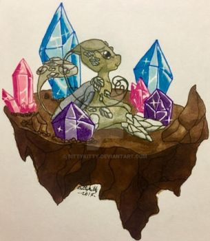 Earth Sprite Tiny Island by bittykitty