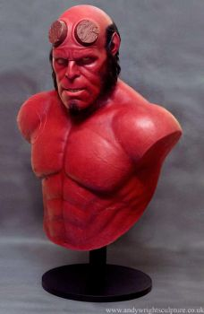 Hellboy silicone bust by artyandy
