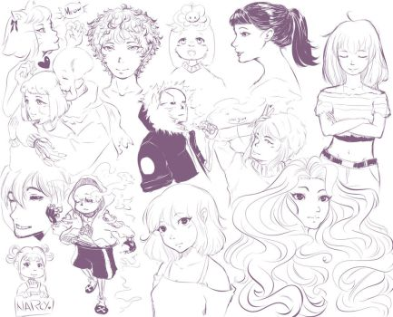 A Bunch of Doodle Doos by narcyzus