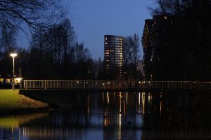 Eindhoven at night by stee-fun