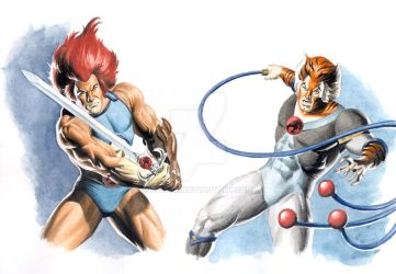 Lion-O and Tygra - Thundercats by Az-I-Am
