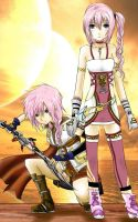 Lightning And Serah Fanart by Nami-Nya